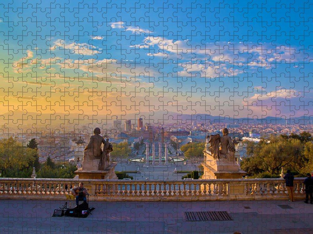 People Puzzle featuring the photograph Museu Nacional Dart De Catalunya by Albert Photo