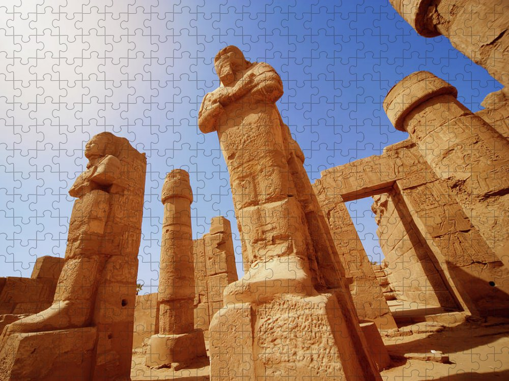 Art Puzzle featuring the photograph Mysterious Ancient Temple Ruins In Egypt by Fds111