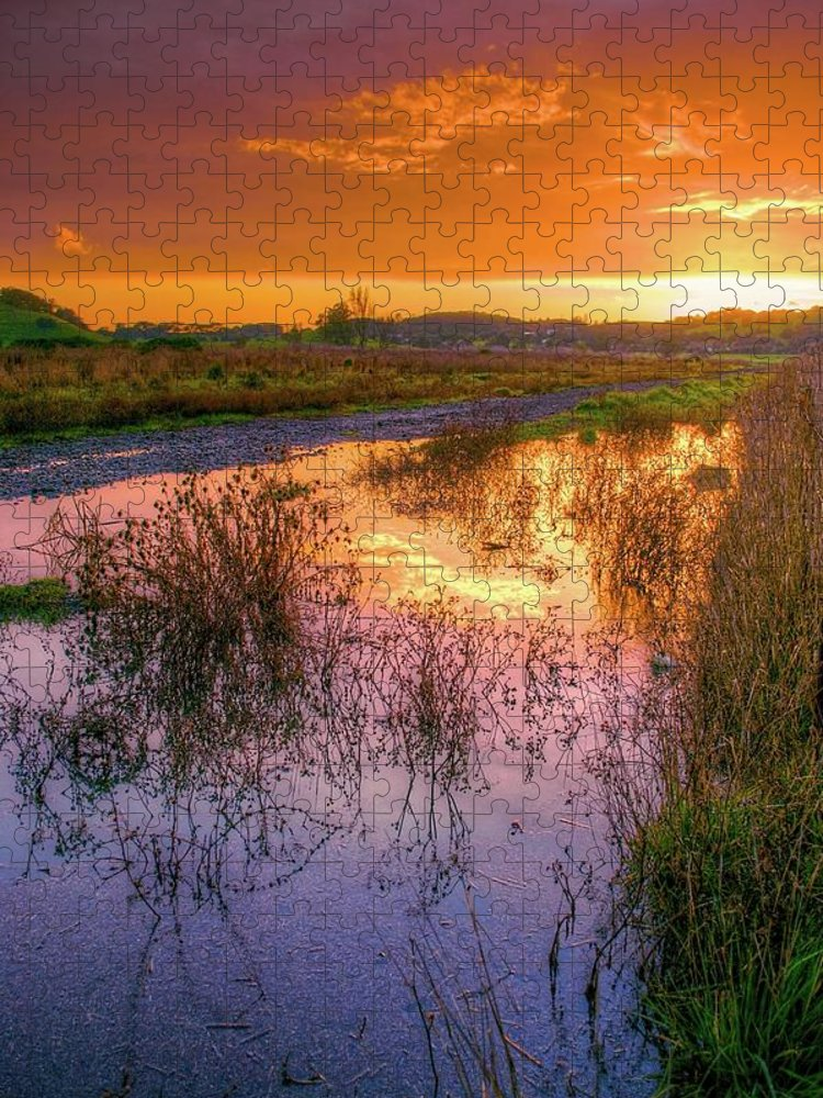 Tranquility Puzzle featuring the photograph Napa Valley At Sunset by Joseph Burke
