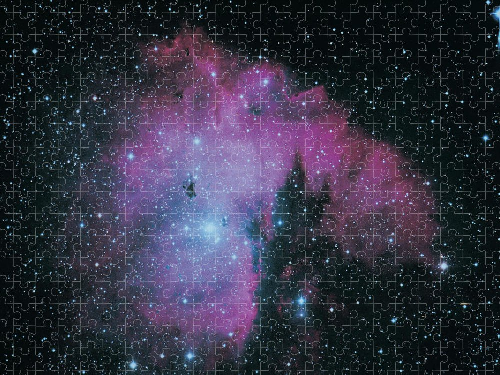 Purple Puzzle featuring the photograph Nebula by Digital Vision.