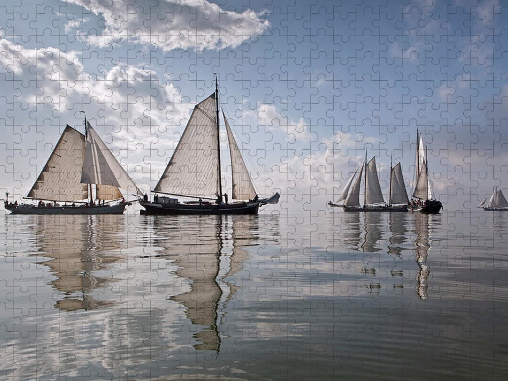 North Holland Puzzle featuring the photograph Netherlands, Race Of Traditional by Frans Lemmens