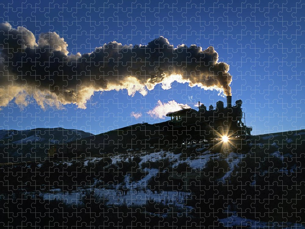 Freight Transportation Puzzle featuring the photograph Nevada Sunrise by Mike Danneman