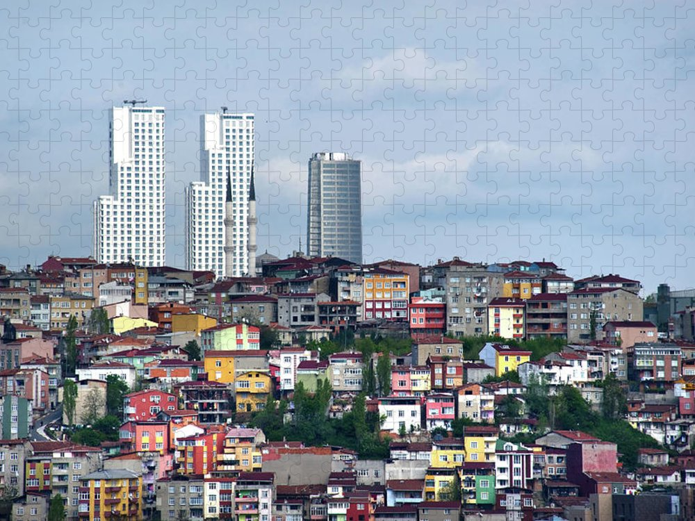 Istanbul Puzzle featuring the photograph New Istanbul by Alain Bachellier