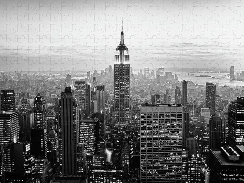 Outdoors Puzzle featuring the photograph New York City by Randy Le'moine
