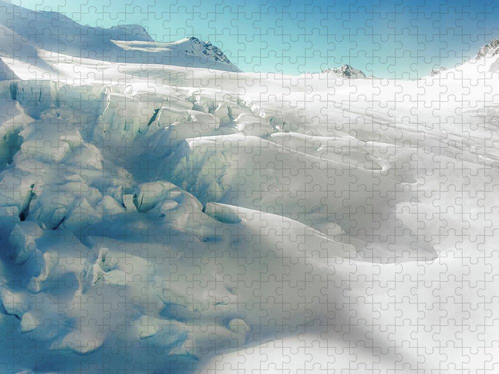 Cold Temperature Puzzle featuring the photograph New Zealand - Dreamy Glacier Landscape by Agnieszka Bachfischer