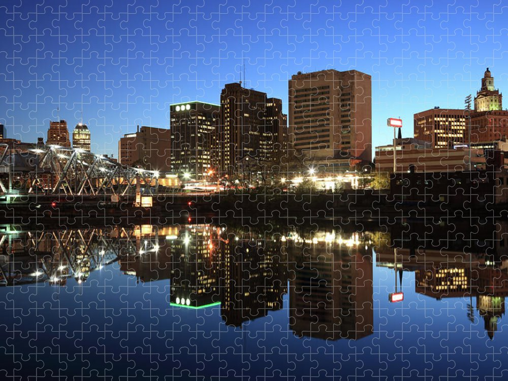 Clear Sky Puzzle featuring the photograph Newark, New Jersey by Jumper