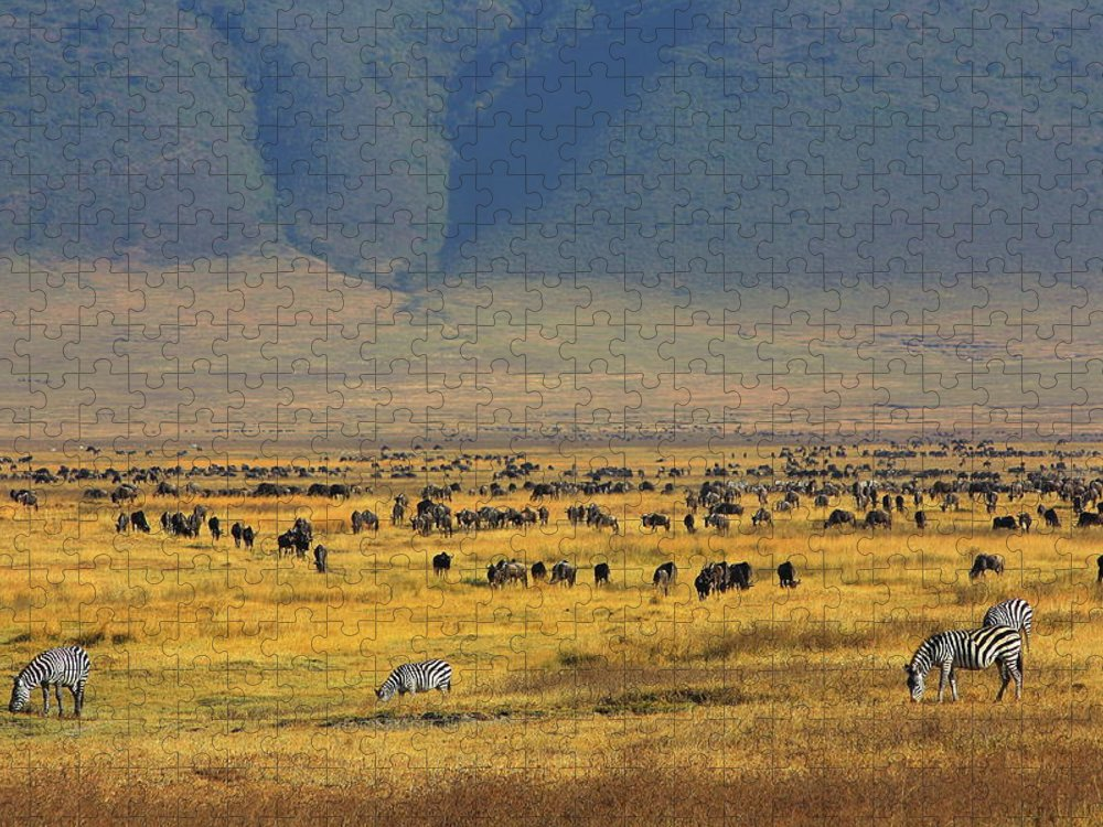Tranquility Puzzle featuring the photograph Ngorongoro Crater Tanzania by Vladimir Nardin