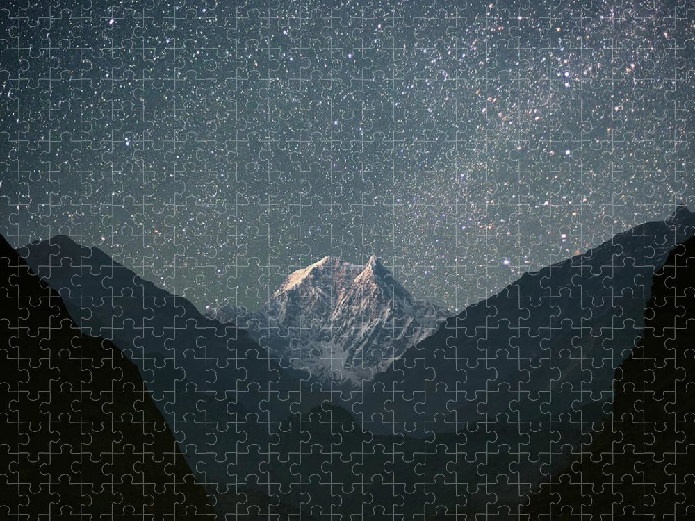 Himalayas Puzzle featuring the photograph Nilgiri South 6839 M by Anton Jankovoy