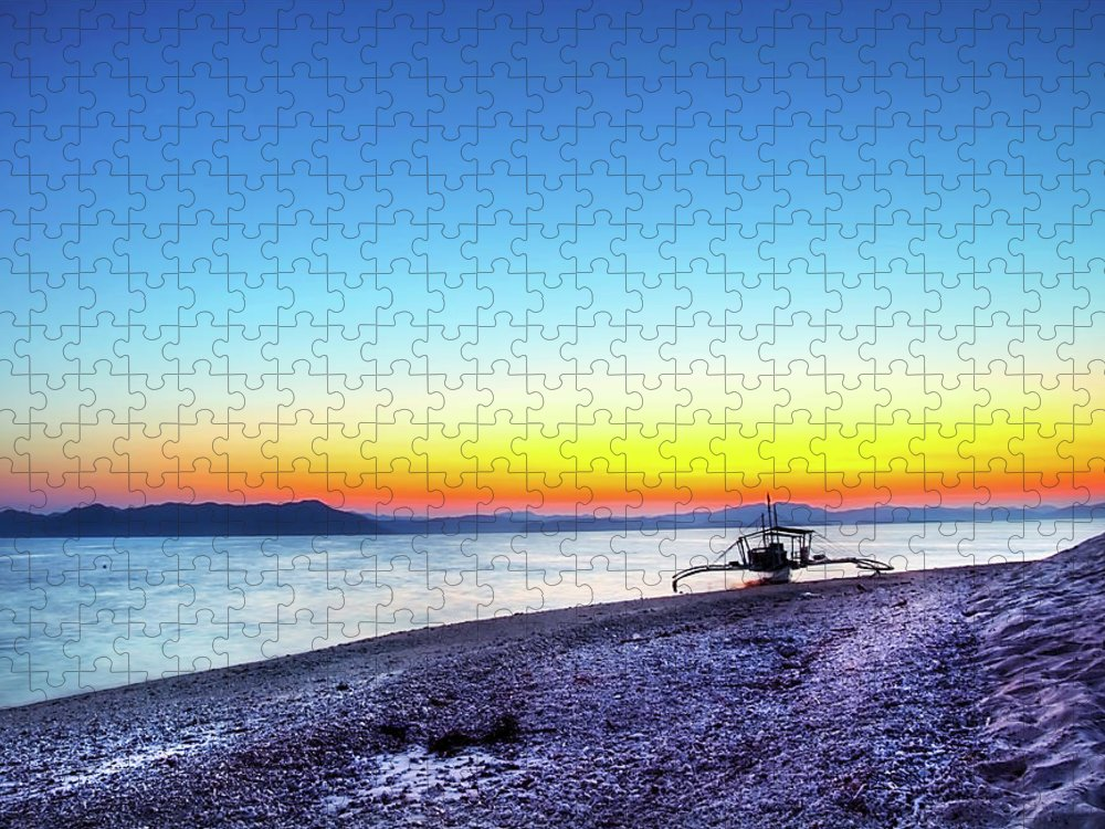 Water's Edge Puzzle featuring the photograph North Cay Island, Palawan, Philippines by Tomasito!
