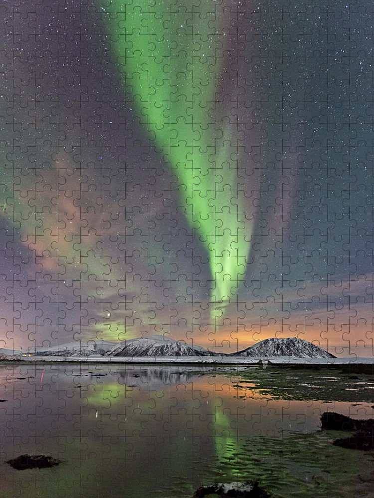 Scenics Puzzle featuring the photograph Norway Sky by By Frank Olsen, Norway