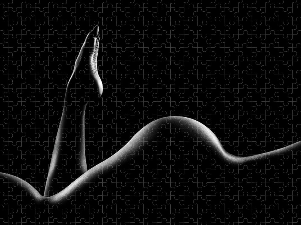 Woman Puzzle featuring the photograph Nude woman bodyscape 14 by Johan Swanepoel