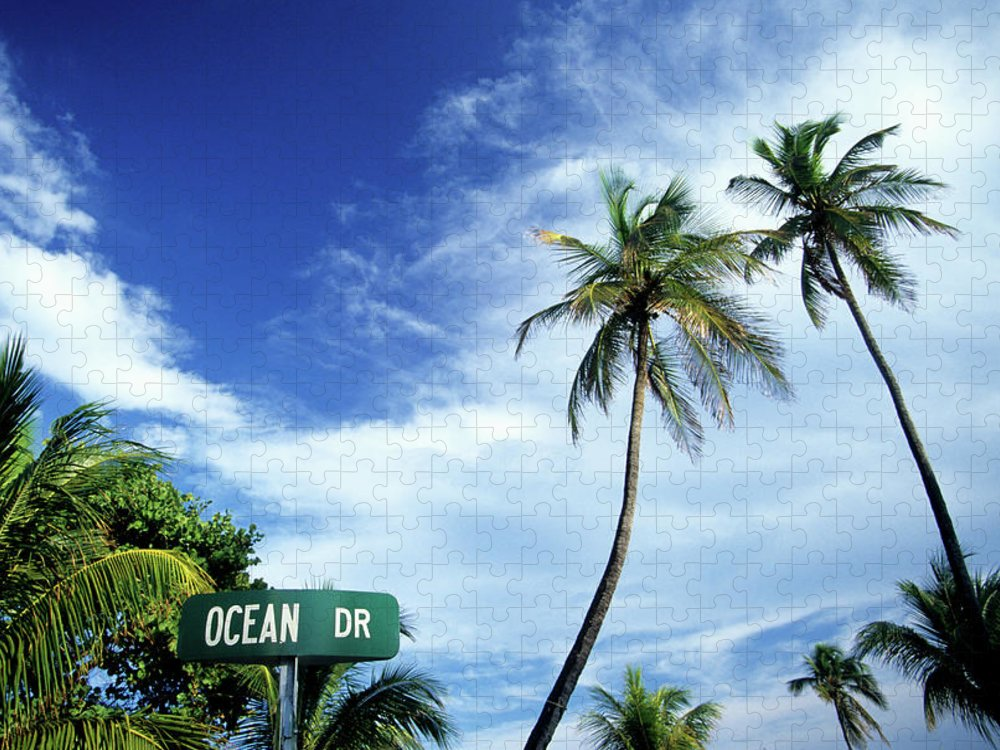 Outdoors Puzzle featuring the photograph Ocean Drive, South Beach, Miami by Hisham Ibrahim