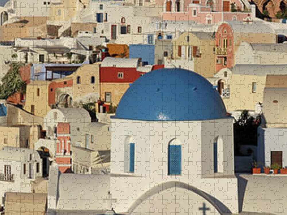 Tranquility Puzzle featuring the photograph Oia Architecture by Sandra Kreuzinger