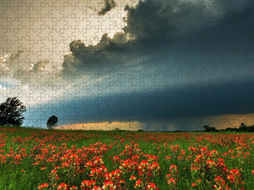 Scenics Puzzle featuring the photograph Oklahoma Tornado Storm by John Finney Photography