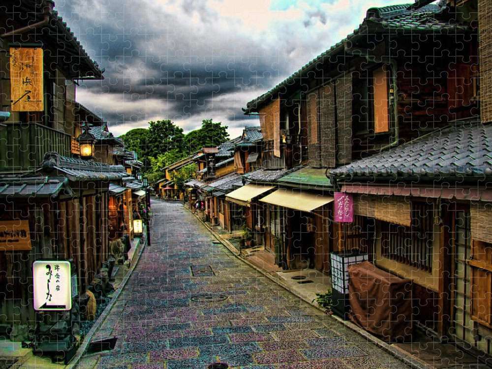 Tranquility Puzzle featuring the photograph Old Kyoto by Copyright Artem Vorobiev