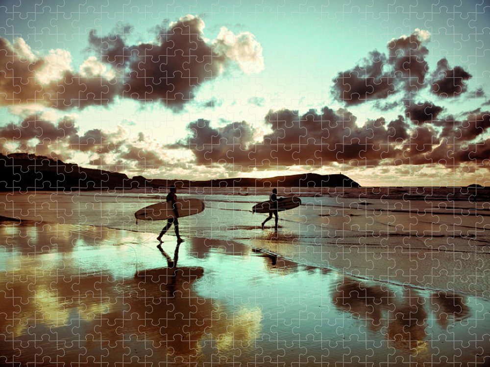 Water's Edge Puzzle featuring the photograph Old Skool Surf by Landscapes, Seascapes, Jewellery & Action Photographer