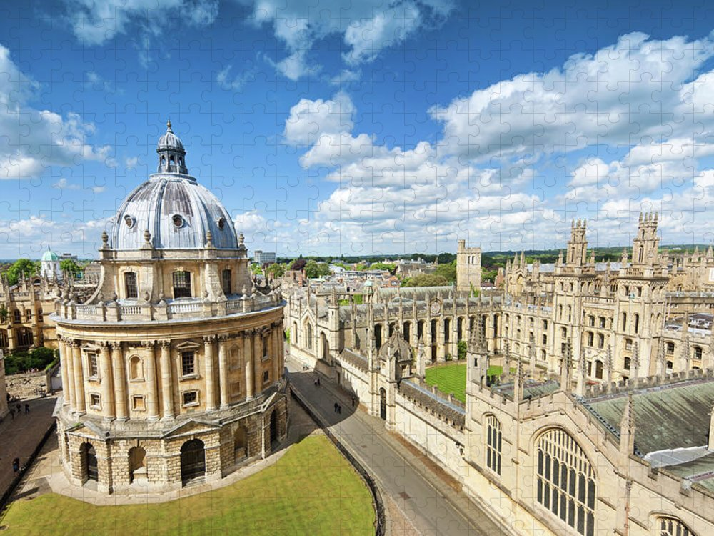 Education Puzzle featuring the photograph Oxford, Uk by Nikada