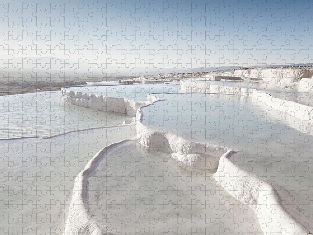 Mineral Puzzle featuring the photograph Pamukkale by Phooey