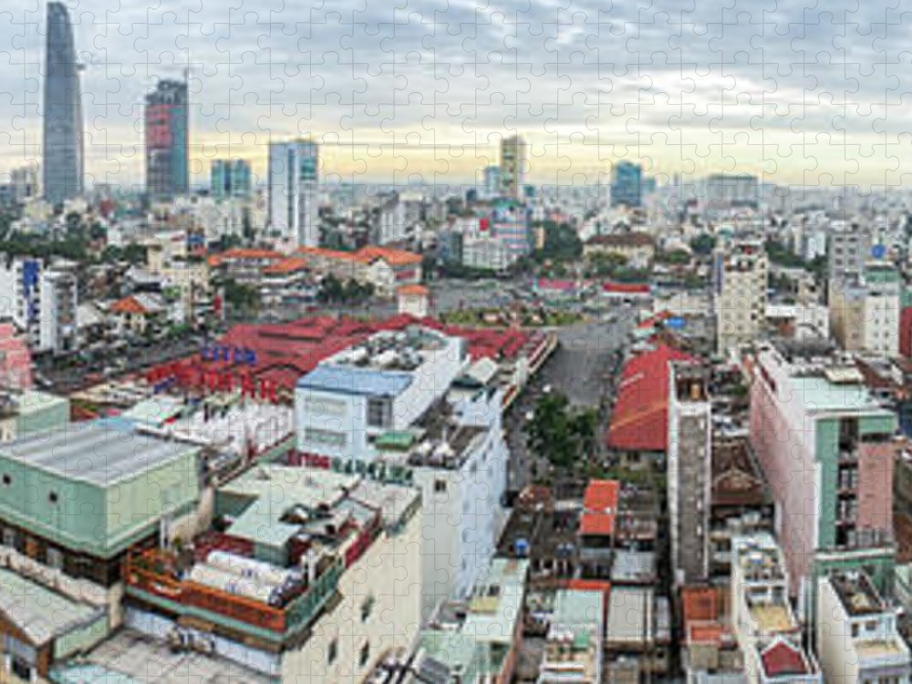 Ho Chi Minh City Puzzle featuring the photograph Panorama Of Ho Chi Minh City by By Thomas Gasienica