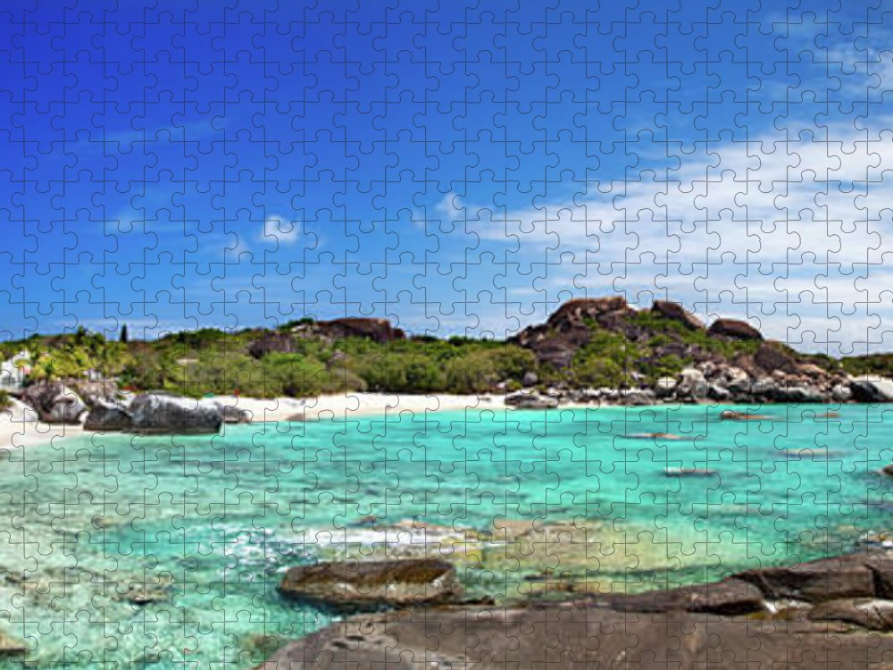 Scenics Puzzle featuring the photograph Panorama Of Spring Bay And The Baths by Cdwheatley