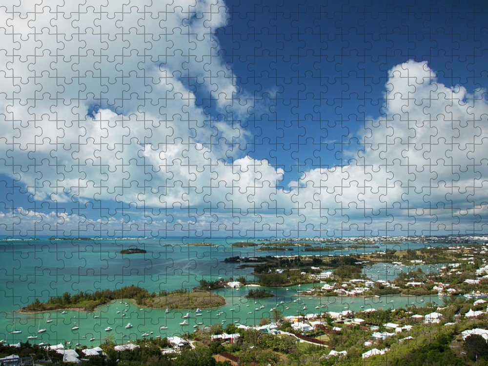 Scenics Puzzle featuring the photograph Panoramic View Of Bermuda, Towards by Elisabeth Pollaert Smith