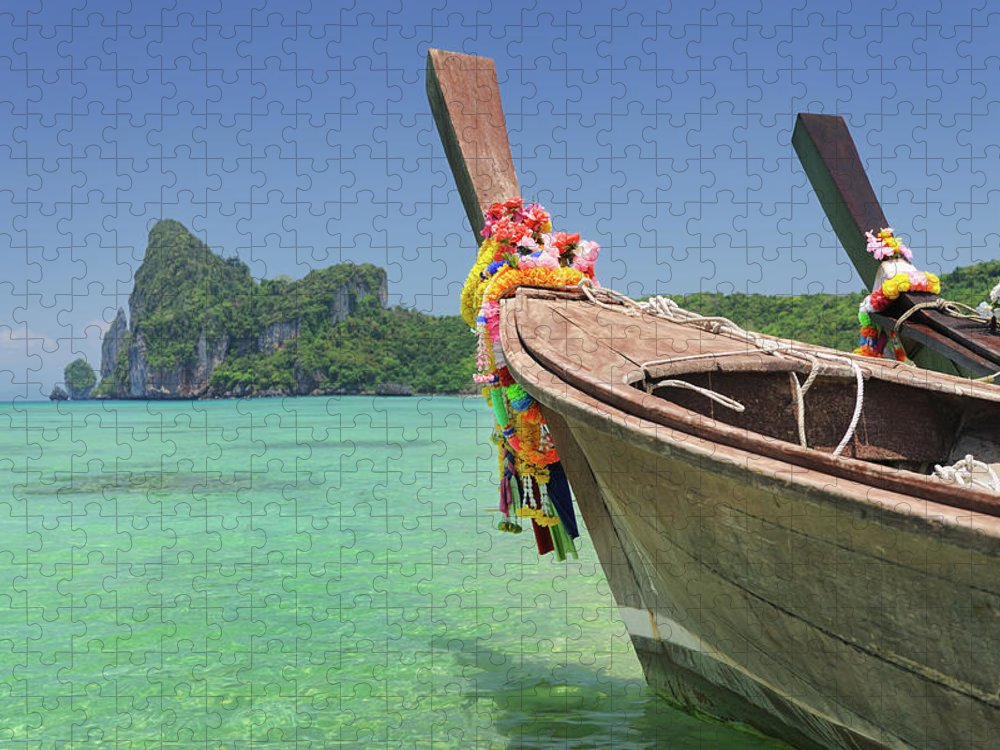 Tropical Rainforest Puzzle featuring the photograph Paradise Tropical Beach With Longtail by 4fr