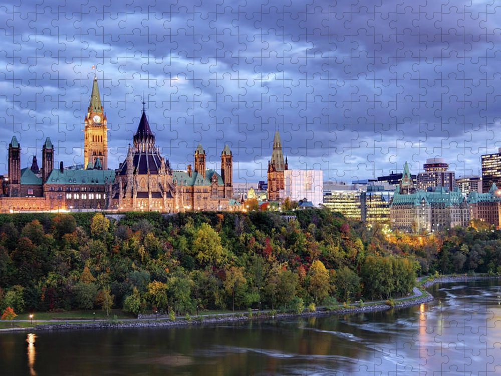 Downtown District Puzzle featuring the photograph Parliament Hill Ottawa, Canada by Denistangneyjr