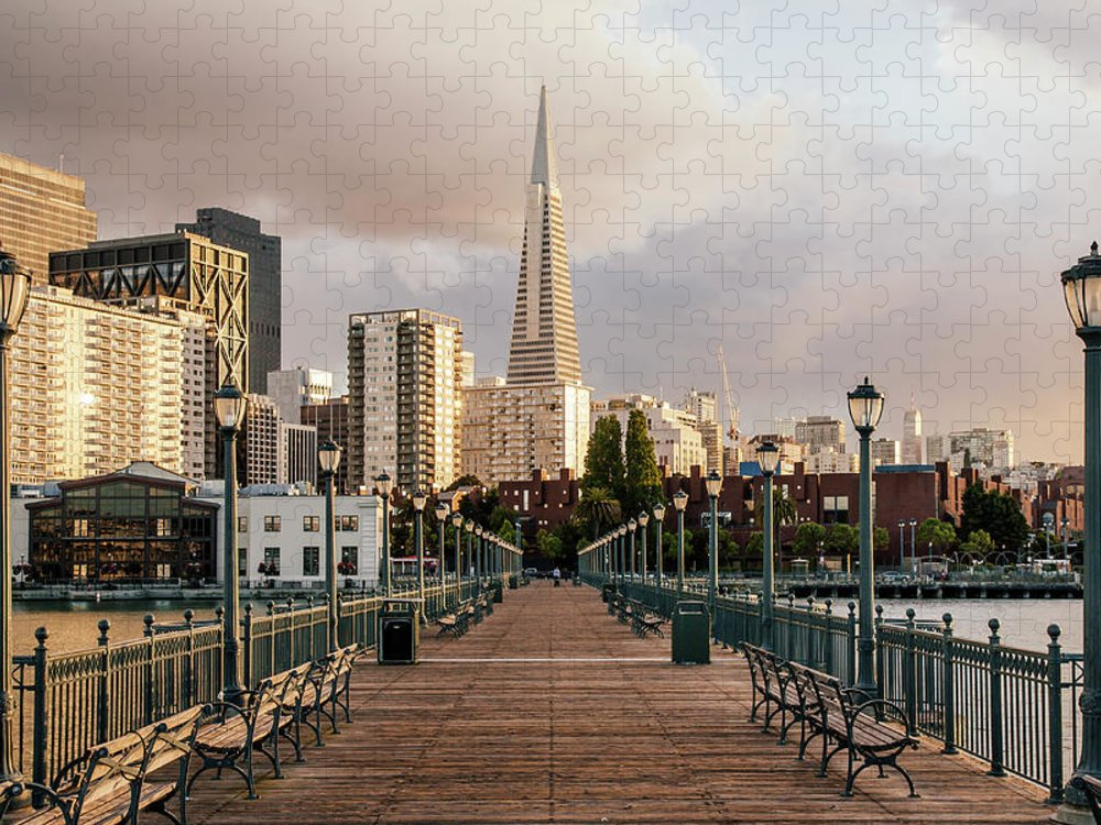 San Francisco Puzzle featuring the photograph Pier Seven And Transamerica Pyramid by Alexander Spatari