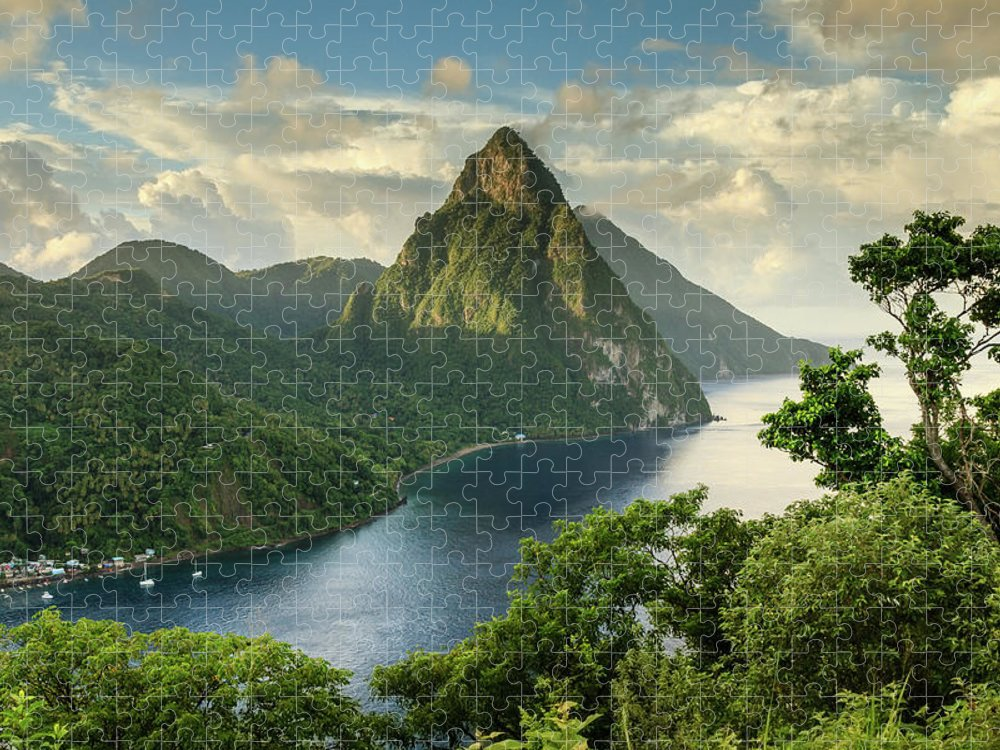Nature Puzzle featuring the photograph Piton View - Saint Lucia by Paul Baggaley
