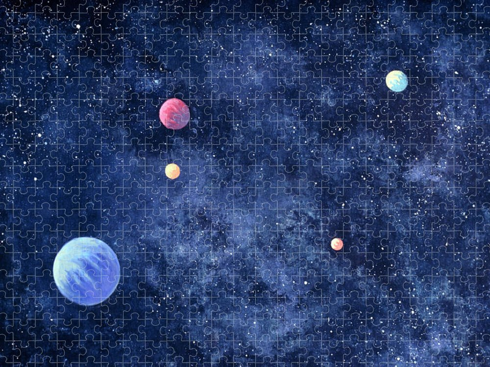 The Media Puzzle featuring the photograph Planets In Solar System by Huntstock