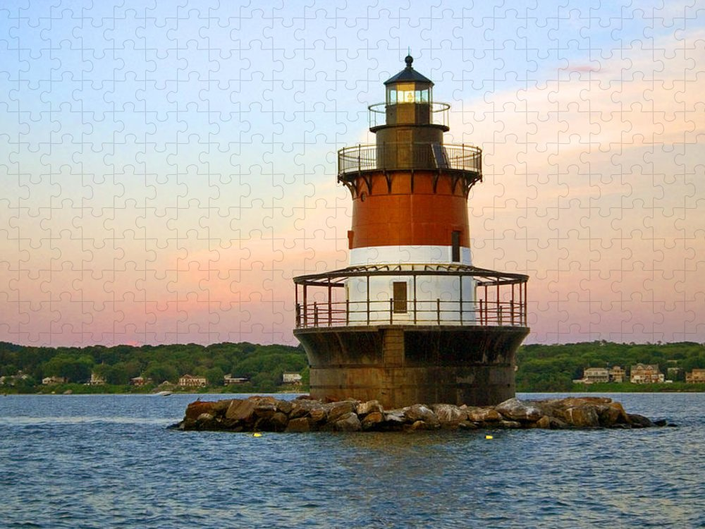 Tranquility Puzzle featuring the photograph Plum Beach Lighthouse, Rhode Island by Jeremy D'entremont, Www.lighthouse.cc