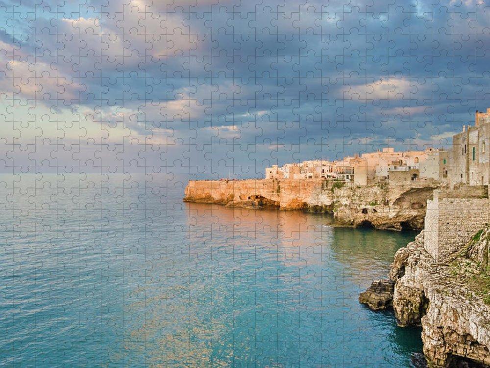 Adriatic Sea Puzzle featuring the photograph Polignano A Mare On The Adriatic Sea by David Madison
