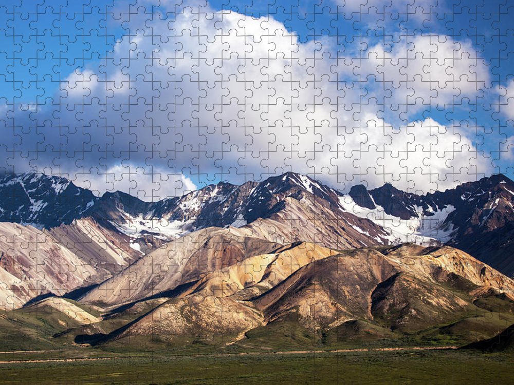 Tranquility Puzzle featuring the photograph Polychrome Overlook View by Daniel A. Leifheit