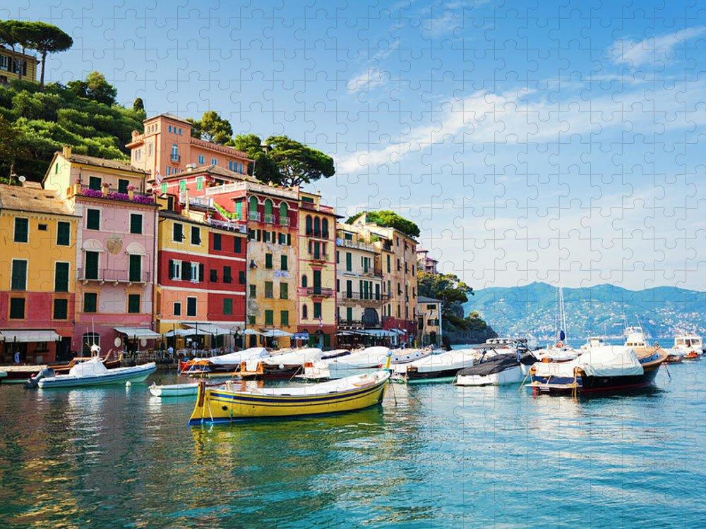 Water's Edge Puzzle featuring the photograph Portofino, Liguria, Italy by Brzozowska