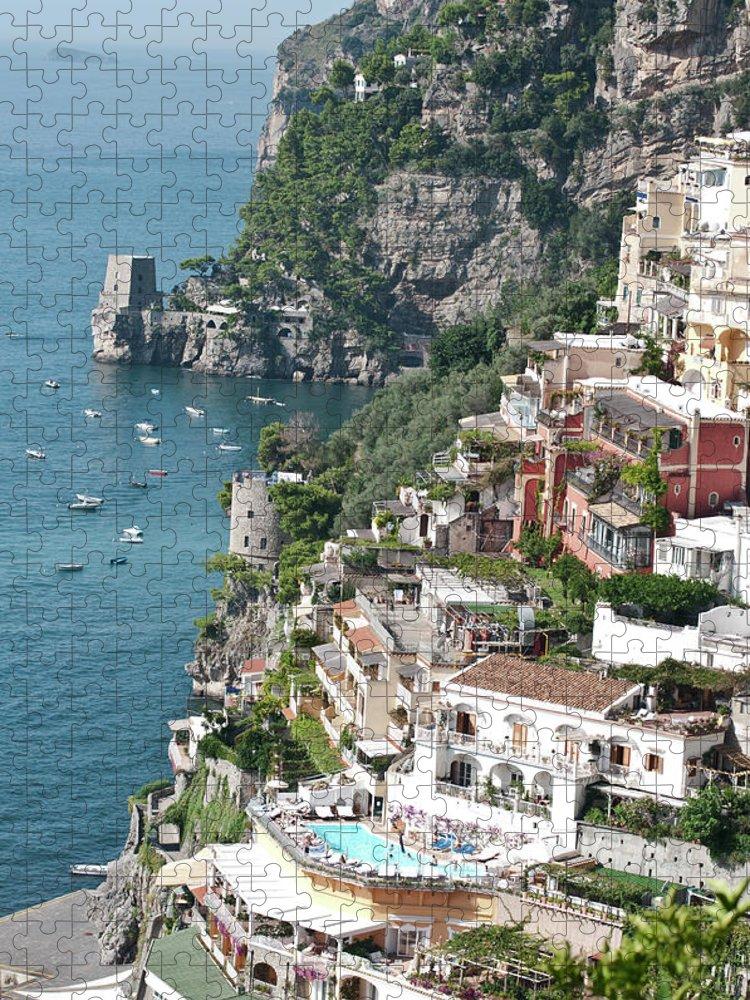 Scenics Puzzle featuring the photograph Positano - Amalfi Coast- Italy by Lrescigno