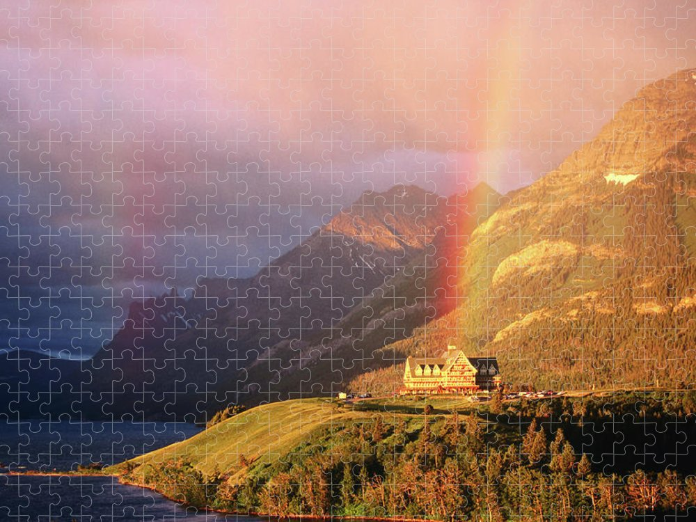 Scenics Puzzle featuring the photograph Prince Of Wales Hotel, At The End Of A by John Elk