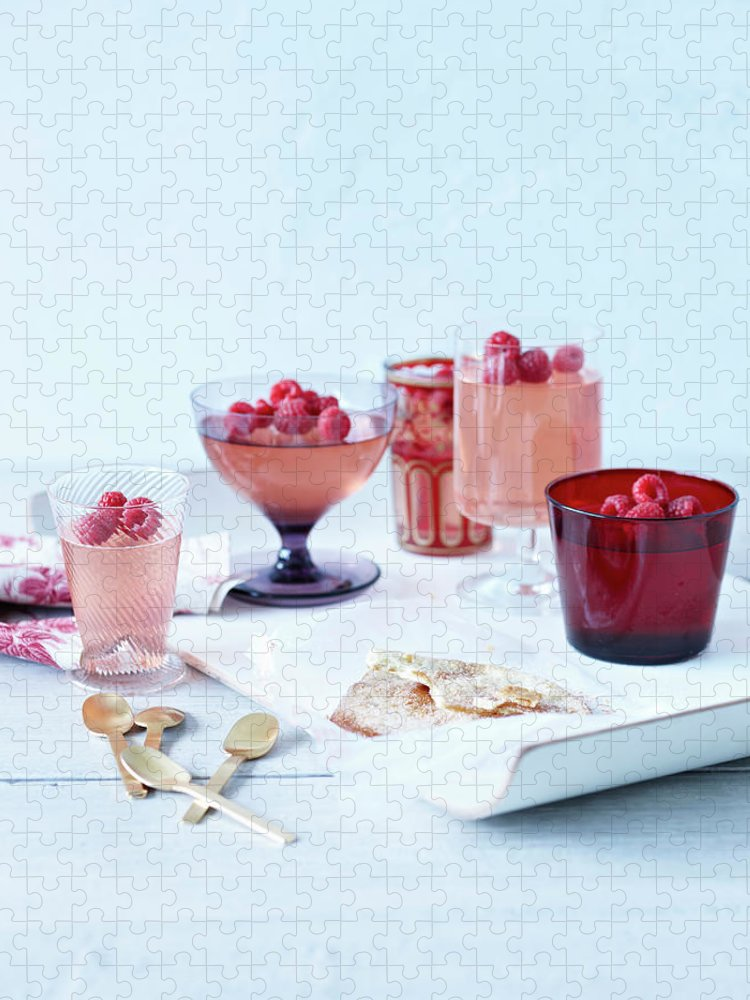 Spoon Puzzle featuring the photograph Prosecco Jellies by Brett Stevens