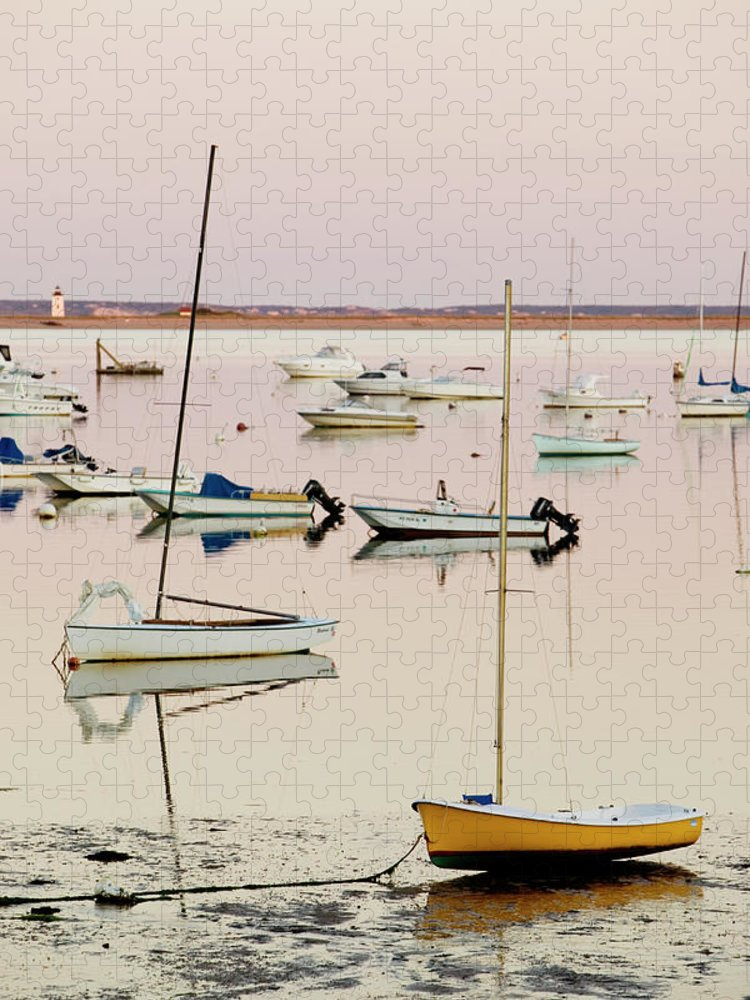 Sailboat Puzzle featuring the photograph Provincetown Harbor by Walter Bibikow