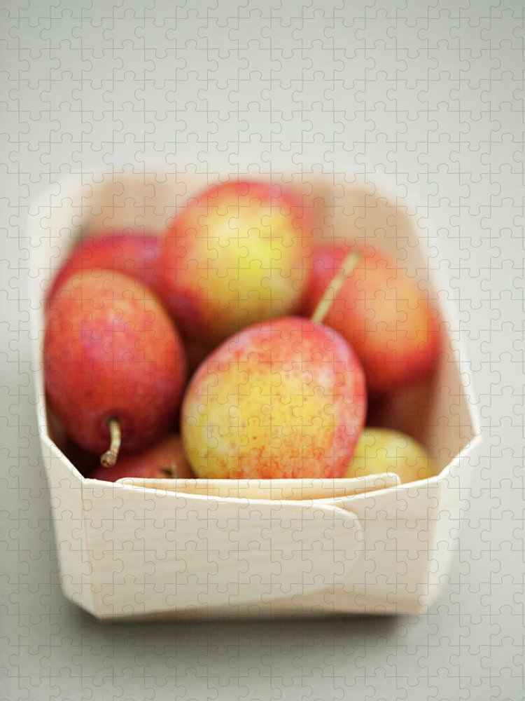 Plum Puzzle featuring the photograph Punnet Of Victoria Plums by Diana Miller