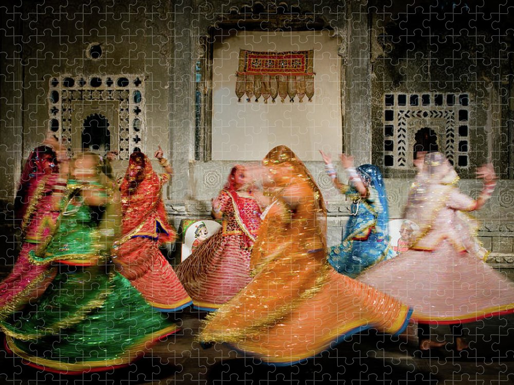 People Puzzle featuring the photograph Rajasthani Dances by Ania Blazejewska