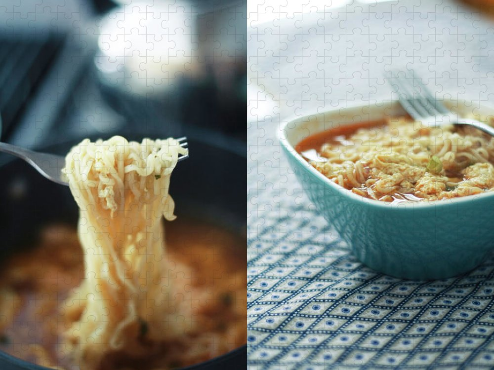 Kitchen Puzzle featuring the photograph Ramen Noodles Diptych by Alice Gao Photography