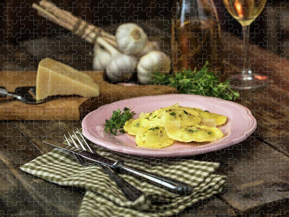 Stuffed Puzzle featuring the photograph Ravioli Pasta by Gmvozd