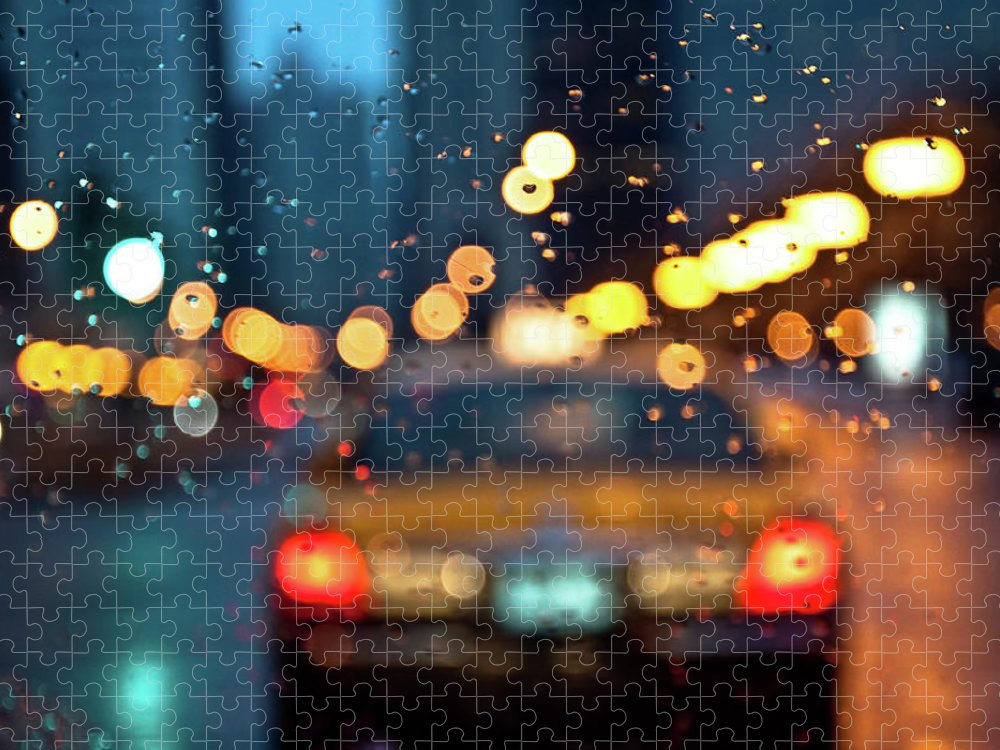 Car Interior Puzzle featuring the photograph Raw, Wet & Cold by Romeo Banias
