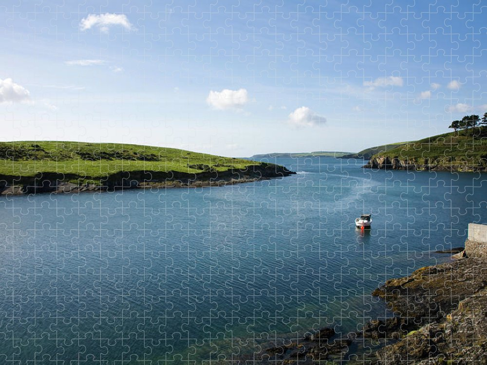 Scenics Puzzle featuring the photograph Republic Of Ireland, County Cork, Inlet by David Epperson