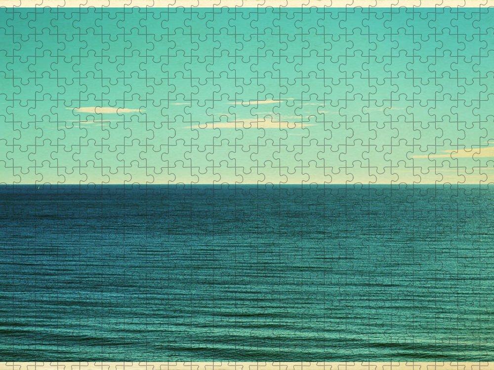 Scenics Puzzle featuring the photograph Retro Seascape Postcard by Farukulay