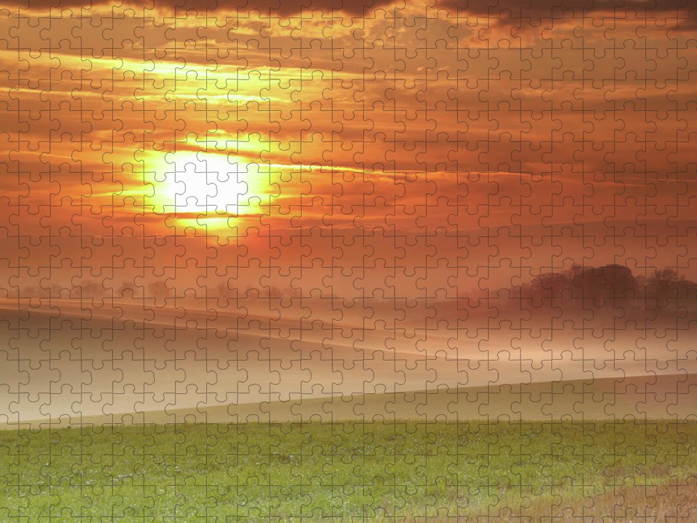 Tranquility Puzzle featuring the photograph Ripples In Mist by Andy Freer