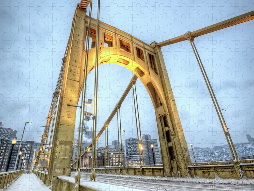 Arch Puzzle featuring the photograph Roberto Clemente Bridge by Hdrexposed - Dave Dicello Photography