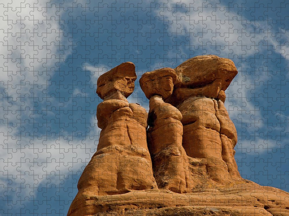 Geology Puzzle featuring the photograph Rock Formation In Arches National Park by Amateur Photographer, Still Learning...