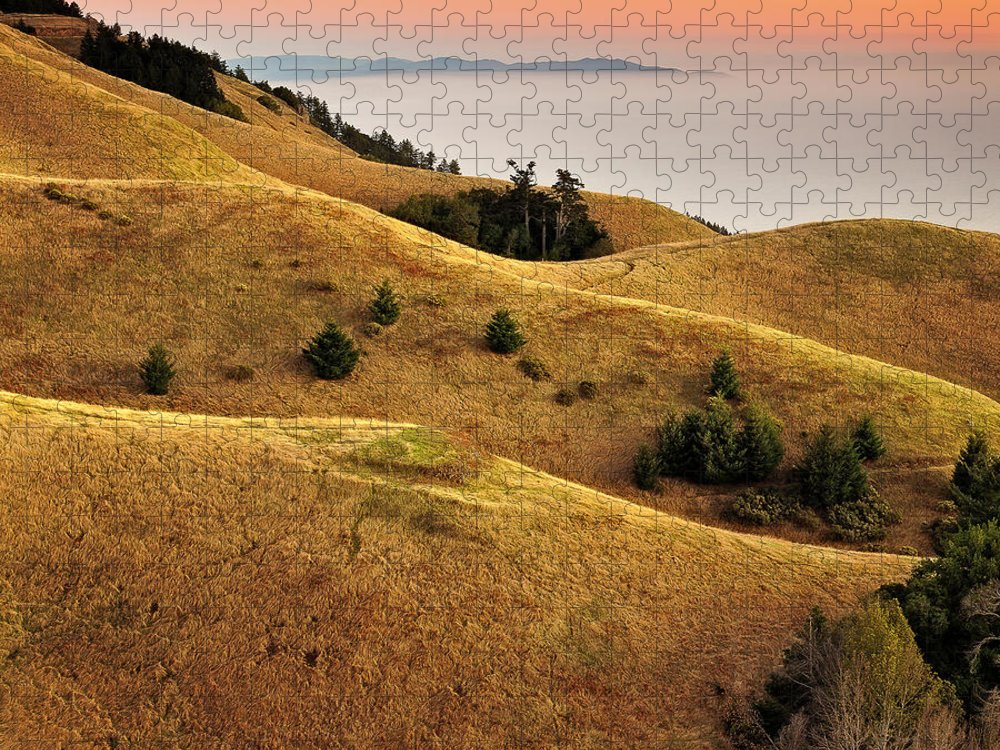 Tranquility Puzzle featuring the photograph Rolling Hills Marin County by Neal Pritchard Photography