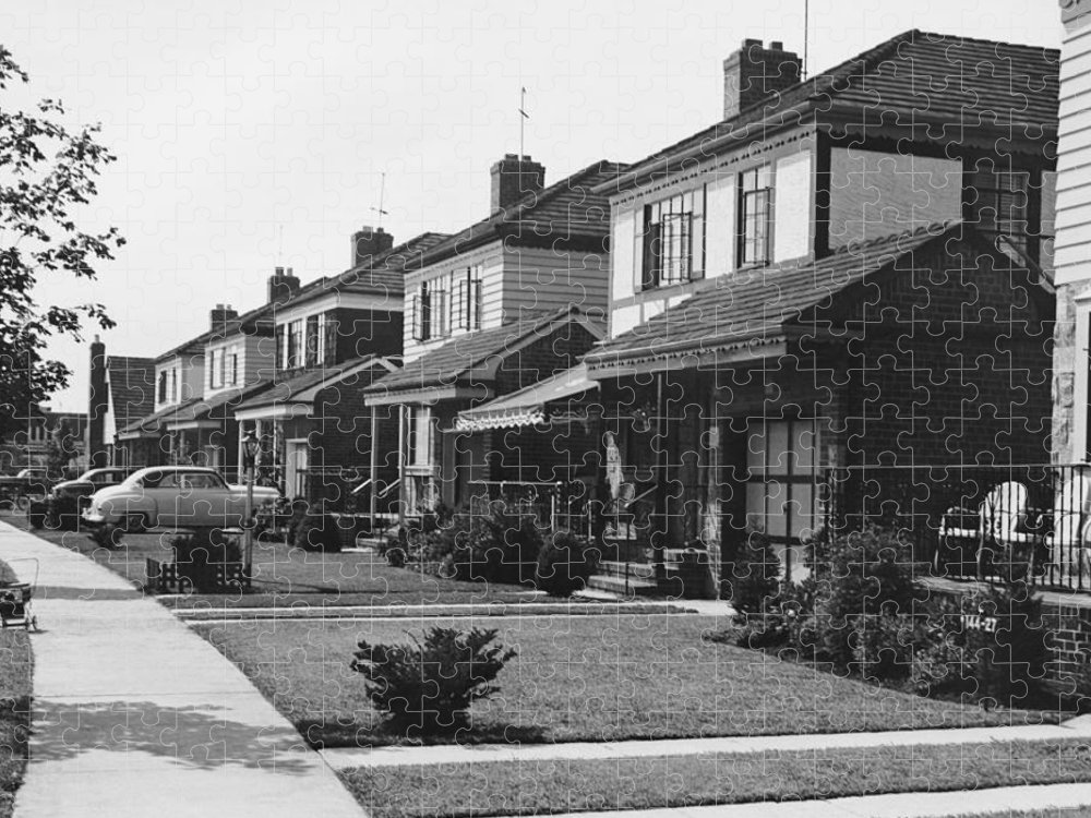 1950-1959 Puzzle featuring the photograph Row Of Houses by George Marks